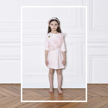 Lightweight milano knit dress CHARABIA for GIRL