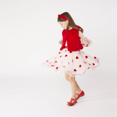 Embroidered sleeveless tulle dress CHARABIA for GIRL