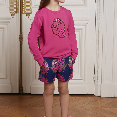 Strawberry jacquard shorts CHARABIA for GIRL