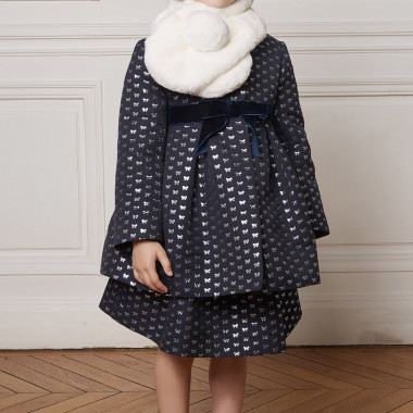 Jacquard coat CHARABIA for GIRL