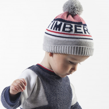 Cotton hat with pompom TIMBERLAND for BOY