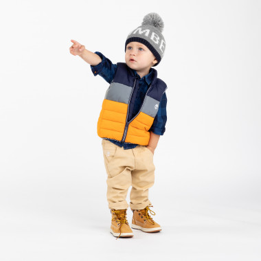 Tricot hat with pompom TIMBERLAND for BOY