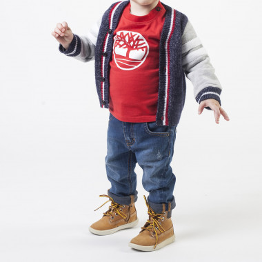 Dual-material cardigan TIMBERLAND for BOY
