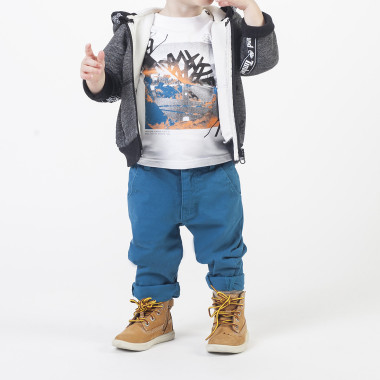 Hooded sports cardigan TIMBERLAND for BOY