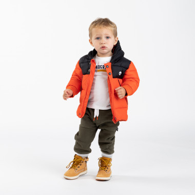 Round neck cotton T-shirt TIMBERLAND for BOY
