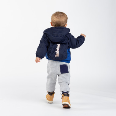 Hooded windcheater with pouch TIMBERLAND for BOY