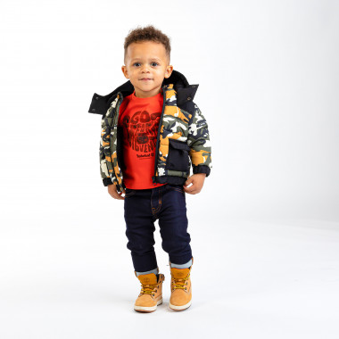 Water-repellent printed down jacket TIMBERLAND for BOY