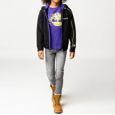 Fleece cotton skinny jeans TIMBERLAND for BOY