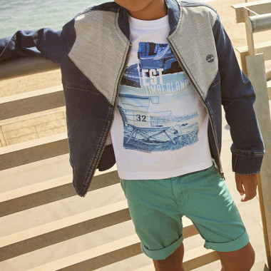 Slim-fit T-shirt with print TIMBERLAND for BOY
