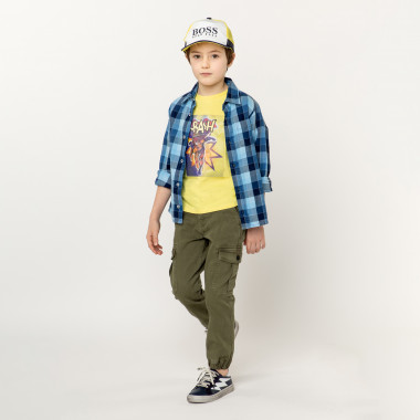 Checked twill shirt TIMBERLAND for BOY