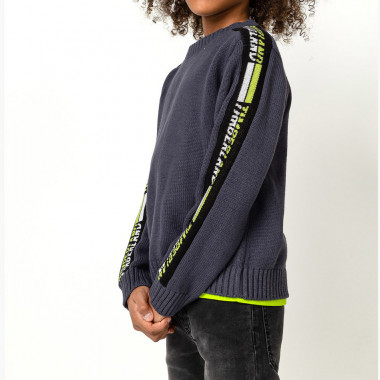 Striped jacquard cotton jumper TIMBERLAND for BOY