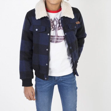 Checked buttoned jacket TIMBERLAND for BOY