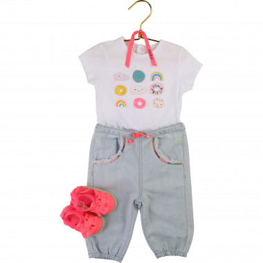 Denim sequin trousers BILLIEBLUSH for GIRL