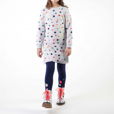 Polka-dot cotton fleece dress BILLIEBLUSH for GIRL