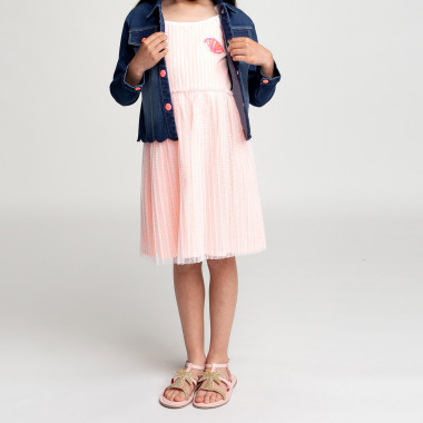 Dual-material strappy dress BILLIEBLUSH for GIRL