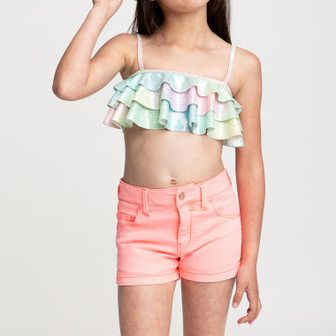 Twill shorts with embroidery BILLIEBLUSH for GIRL