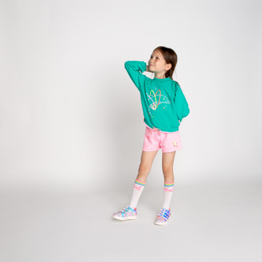 Fleece shorts with a patch BILLIEBLUSH for GIRL