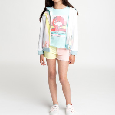 Hooded fleece cardigan BILLIEBLUSH for GIRL