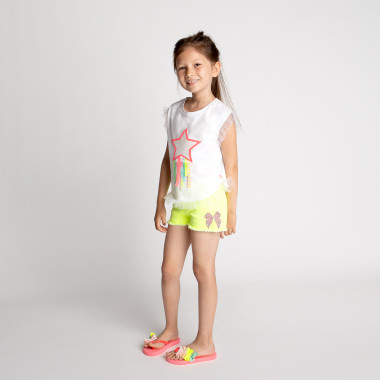 Sleeveless ruffled T-shirt BILLIEBLUSH for GIRL