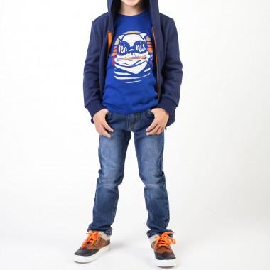 Cotton t-shirt with zip detail BILLYBANDIT for BOY