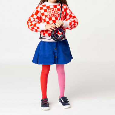 Two-tone knit tights THE MARC JACOBS for GIRL
