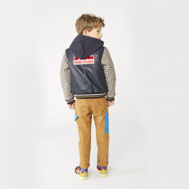Hooded leather bomber jacket THE MARC JACOBS for BOY