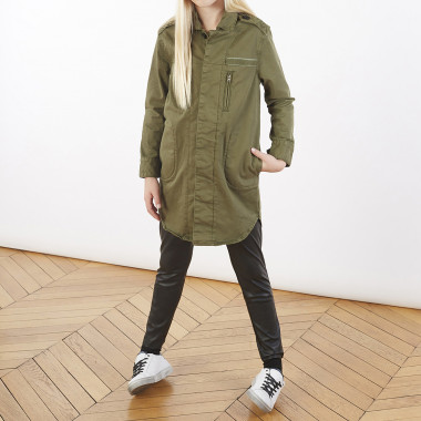 Stretchy cotton shirt dress ZADIG & VOLTAIRE for GIRL
