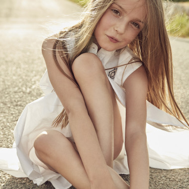 Embroidered cotton voile dress ZADIG & VOLTAIRE for GIRL