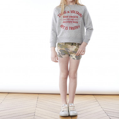 Printed cotton shorts ZADIG & VOLTAIRE for GIRL