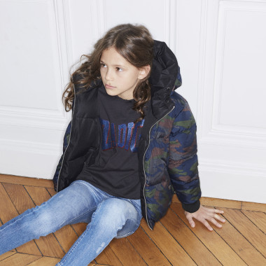 Henley collar T-shirt ZADIG & VOLTAIRE for GIRL