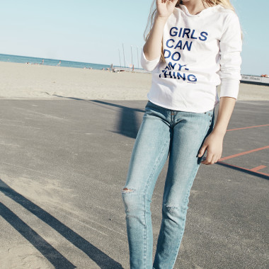 T-SHIRT TUNISIAN COLLAR ZADIG & VOLTAIRE for GIRL