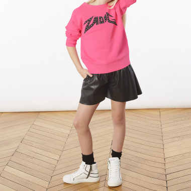 Chevron fleece sweatshirt ZADIG & VOLTAIRE for GIRL