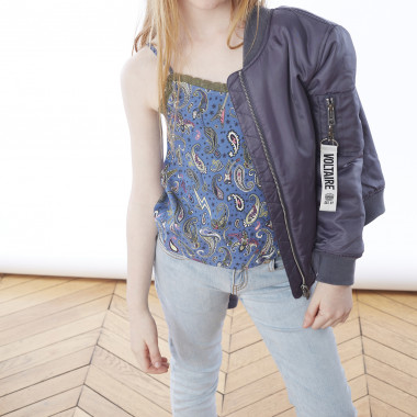 Flowing printed camisole ZADIG & VOLTAIRE for GIRL