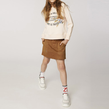 Chunky leather sneakers ZADIG & VOLTAIRE for GIRL