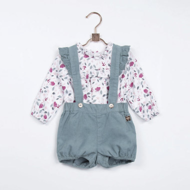 Velvet bloomers with braces CARREMENT BEAU for GIRL