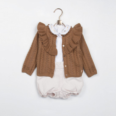 Cotton and wool cardigan CARREMENT BEAU for GIRL