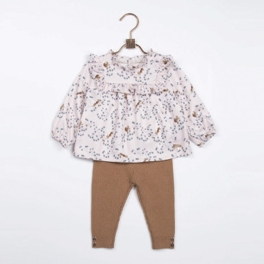 Ruffled twill blouse CARREMENT BEAU for GIRL