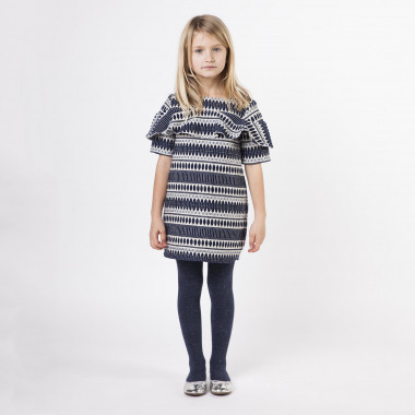 Jacquard party dress CARREMENT BEAU for GIRL