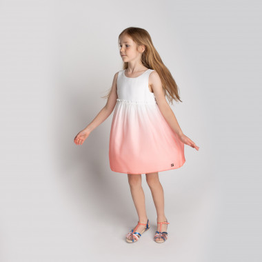 Dip-dyed voile dress CARREMENT BEAU for GIRL