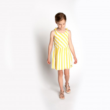 Dress with knotted straps CARREMENT BEAU for GIRL