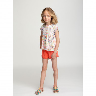 T-shirt with frilled sleeves CARREMENT BEAU for GIRL