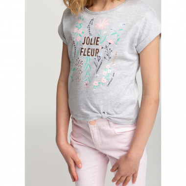 Printed and knotted T-shirt CARREMENT BEAU for GIRL