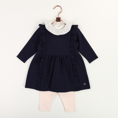 Milano dress with frills CARREMENT BEAU for GIRL