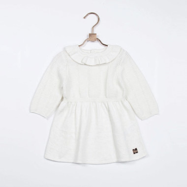 Knitted cotton dress CARREMENT BEAU for GIRL