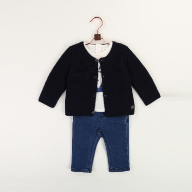 Knit cardigan with buttons CARREMENT BEAU for BOY