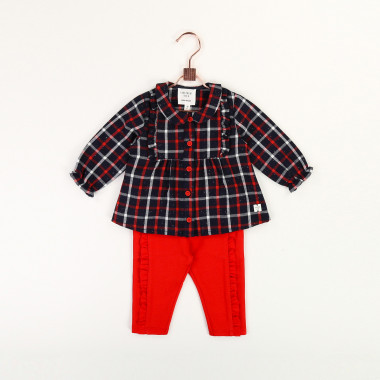 Checked flannel blouse CARREMENT BEAU for GIRL