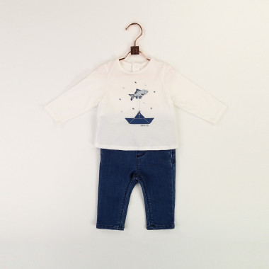 Novelty cotton T-shirt CARREMENT BEAU for BOY