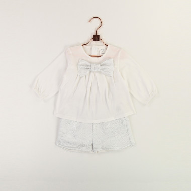 Formal T-shirt with bow CARREMENT BEAU for GIRL