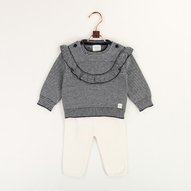 Frilly cotton and wool jumper CARREMENT BEAU for GIRL