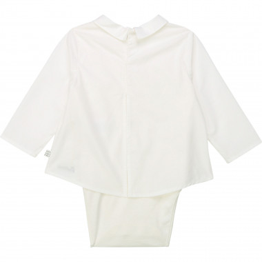 Shirt-style cotton bodysuit CARREMENT BEAU for BOY